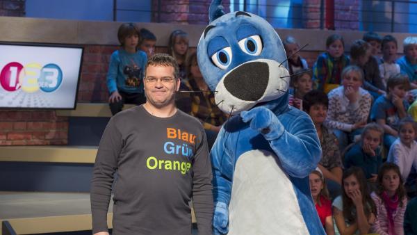 Elton und Piet Flosse   Rechte: ZDF/Ralf Wilschewski