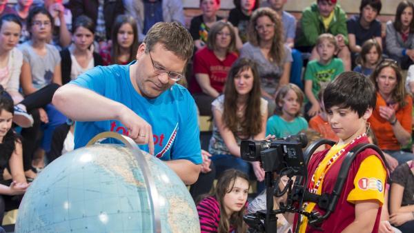 Elton und Kamerakind Tobias aus Neumarkt/Österreich. | Rechte: ZDF/Ralf Wilschewski