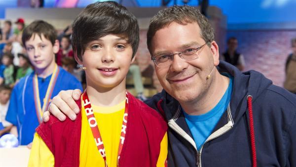 Elton und Kamerakind Tobias aus Neumarkt/Österreich | Rechte: ZDF/Ralf Wilschewski