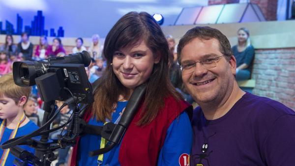 Elton und Kamerakind Adriana aus Neustrelitz | Rechte: ZDF/Ralf Wilschewski