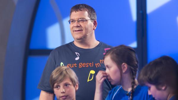 Elton und die Kandidaten aus Templin/Deutschland   Rechte: ZDF und Ralf Wilschewski