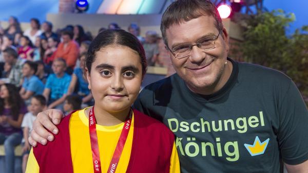 Kamerakind Melissa aus Kottingbrunn/Österreich und Elton. | Rechte: ZDF und Ralf Wilschewski