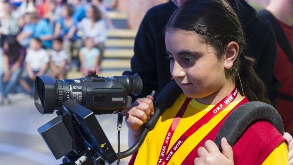 Kamerakind Melissa aus Kottingbrunn/Österreich. | Rechte: ZDF und Ralf Wilschewski