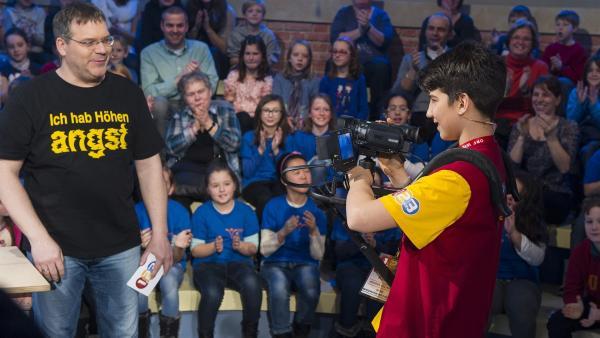 Kamerakind Sasa aus Österreich beim Dreh mit Elton | Rechte: ZDF und Ralf Wilschewski