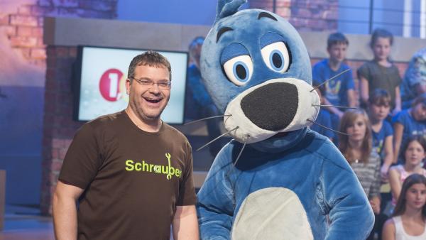 Elton und Piet freuen sich über die vielen richtigen Anworten der Kandidaten. | Rechte: ZDF und Ralf Wilschewski