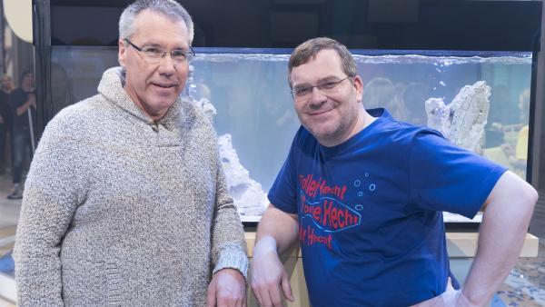 Fischexperte Dr. Ulrich Schliewen und Elton zeigen in dieser Ausgabe die Welt der Fische. | Rechte: ZDF/Ralf Wilschewski