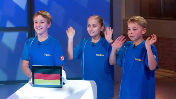 Die Kandidaten aus Zwickau/Deutschland wollen heute viele Punkte erspielen.       | Rechte: ZDF/Ralf Wilschewski