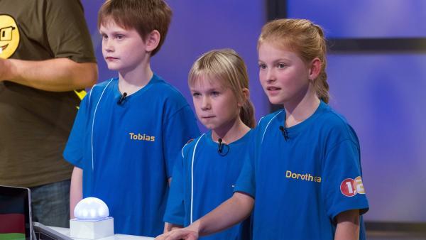 Die Kandidaten aus München/Deutschland strengen sich heute ganz besonders an, um den Tagessieg einzutüten. | Rechte: ZDF/Ralf Wilschewski