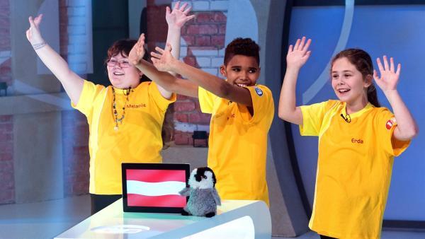 Die Kandidaten aus Linz/Österreich freuen sich auf die Sendung.       | Rechte: ZDF/Ralf Wilschewski