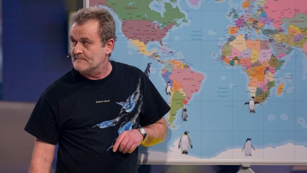 Wo auf der Welt leben eigentlich die Pinguine? Pinguinforscher Dr. Klemens Pütz zeigt es. | Rechte: ZDF/Ralf Wilschewski