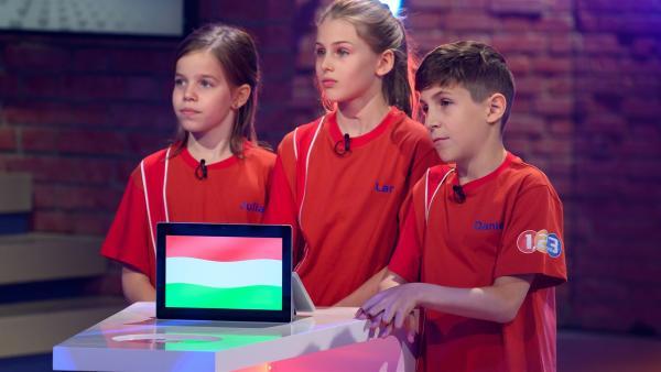 Die Kandidaten aus Budapest/Ungarn spielen heute gemeinsam um den Tagessieg.    Rechte: ZDF/Ralf Wilschewski