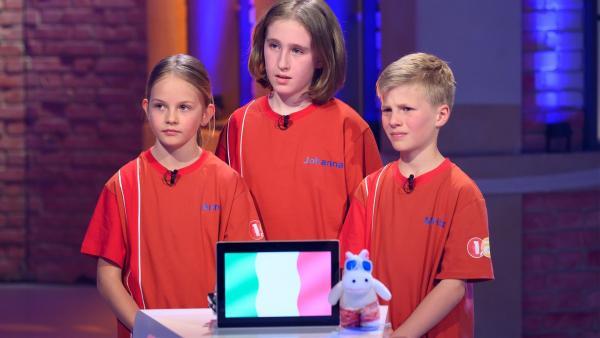 Die Kandidaten aus Pfitsch/Italien wollen heute viele Punkte erspielen.   Rechte: ZDF/Ralf Wilschewski