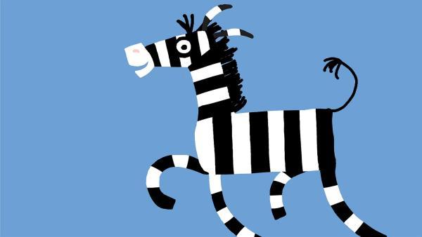 Noch hüpft das Zebra unbeschwert herum. | Rechte: KiKA/SWR/Film Bilder/Julia Ocker