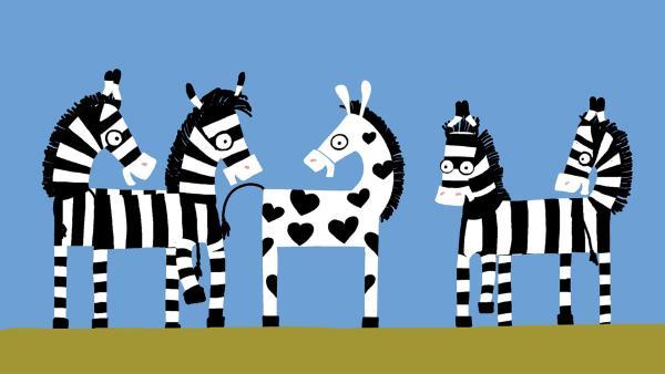 Es ist doch toll, so ein besonderes Zebra zu sein! | Rechte: KiKA/SWR/Film Bilder/Julia Ocker