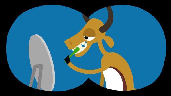 Die Gazelle merkt nicht, dass sie beobachtet wird. | Rechte: KiKA/SWR/Film Bilder/Julia Ocker