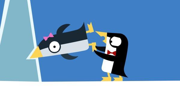 Oje, ein Pinguin steckt fest! | Rechte: KiKA/SWR/Film Bilder/Julia Ocker