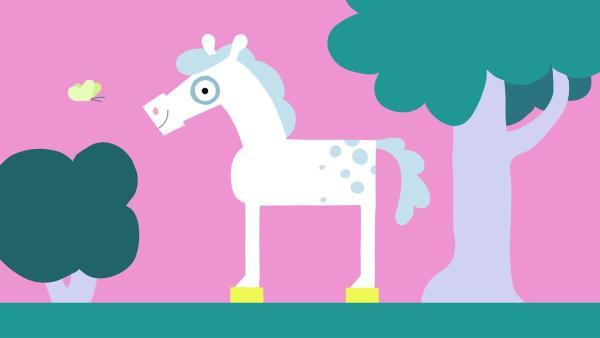 Das Pferd ist glücklich. | Rechte: KiKA/SWR/Film Bilder/Julia Ocker