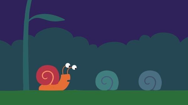 In der Nacht kriechen die Schnecken in ihr Häuschen.   Rechte: KiKA/SWR/Studio FILM BILDER/Julia Ocker