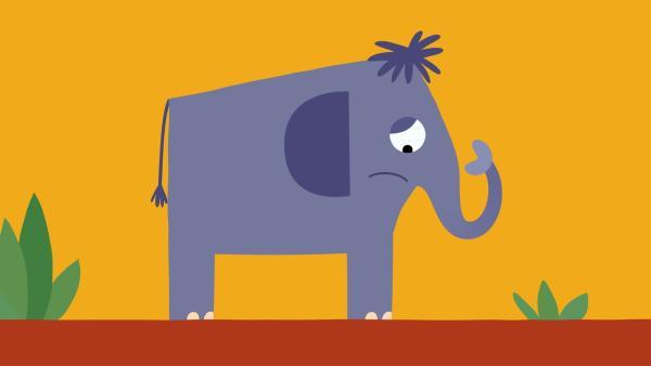 Der Elefant hat miese Laune. | Rechte: KiKA/SWR/Film Bilder/Julia Ocker