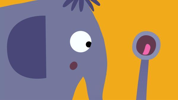 Sein Rüssel versucht den Elefanten aufzumuntern. | Rechte: KiKA/SWR/Studio FILM BILDER/Julia Ocker
