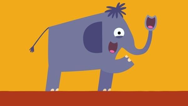 Jetzt singt der Elefant mit seinem Rüssel im Duett. | Rechte: KiKA/SWR/Film Bilder/Julia Ocker