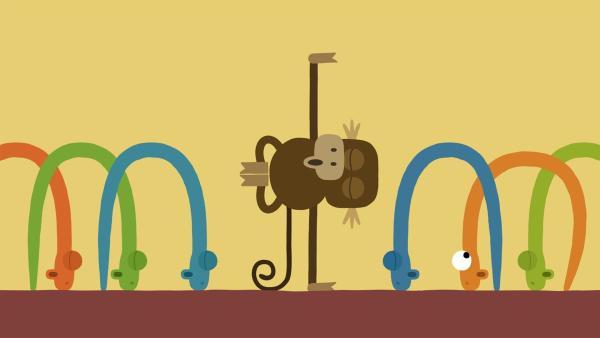 Eine Schlange ist unsicher, ob sie alles richtig macht. | Rechte: KiKA/SWR/Studio FILM BILDER/Julia Ocker