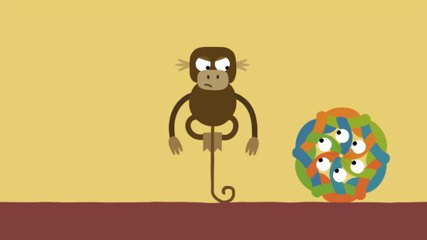 Der Yogalehrer ist empört. Wie konnten sich die Schlangen so verknoten? | Rechte: KiKA/SWR/Studio FILM BILDER/Julia Ocker