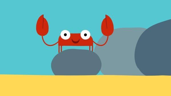 Die Krabbe zwickt gerne alles und jeden. | Rechte: KiKA