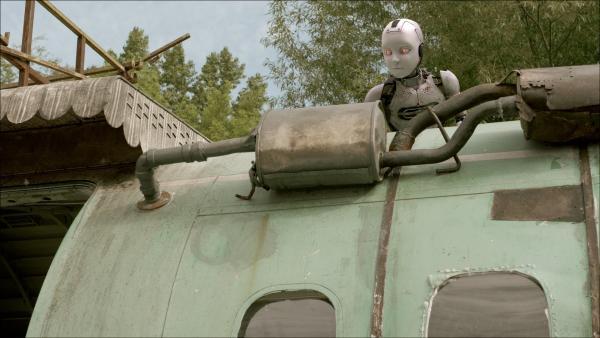 PAL (Millie Davis) ist im Tarnmodus und versucht, sich zu verstecken.   Rechte: KiKA/Sinking Ship Entertainment