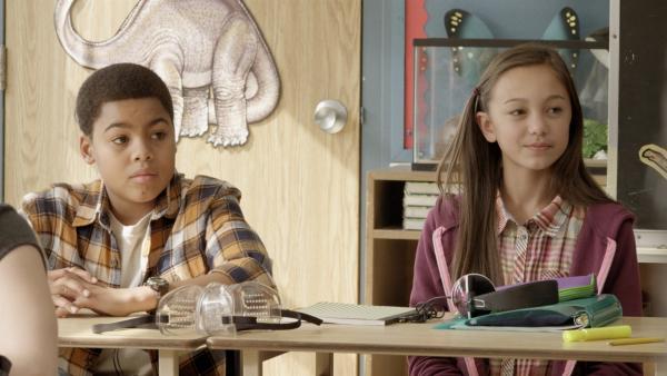 Nicks (Jadiel Dowlin) erster Schultag in der neuen Schule. | Rechte: KiKA/Sinking Ship Entertainment