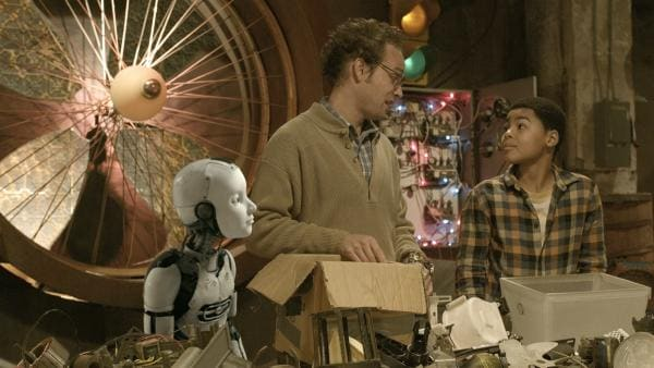 Wilbert (James Gangl) und Nick (Jadiel Dowlin) konstruieren ihr Minifahrzeug. | Rechte: KiKA/Sinking Ship Entertainment