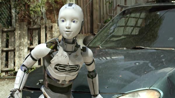 PAL (Millie Davis) ist gespannt, wohin die Spurensuche nach der Herkunft der Robo-Käfer die Freunde führen wird. | Rechte: KiKA/Sinking Ship Entertainment