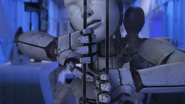 PAL (Millie Davis) versucht verzweifelt, das Labor zu verlassen. | Rechte: KiKA/Sinking Ship Entertainment
