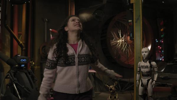Shania (Adrianna Di Liello) probt für ein Filmcasting. | Rechte: KiKA/Sinking Ship Entertainment
