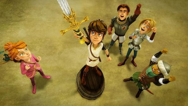 Das Zauberschwert Excalibur bestimmt die Thronfolge. | Rechte: SWR/Blue Spirit Productions/TéléTOON+/Canal+