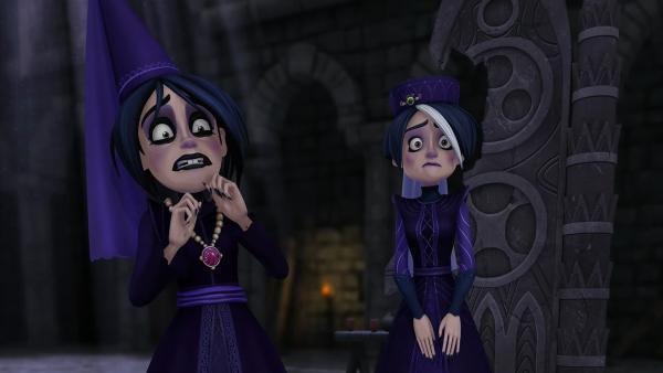 Die Tintagel-Schwestern Ygraine und Morgause stecken in Schwierigkeiten. | Rechte: SWR/Blue Spirit Productions/TéléTOON+/Canal+