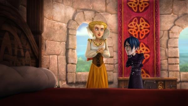 Prinzessin Gaelle und Mordred schmieden ein Komplott, um den Thron von Camelot zu erobern.   Rechte: SWR/Blue Spirit Productions/TéléTOON+/Canal+