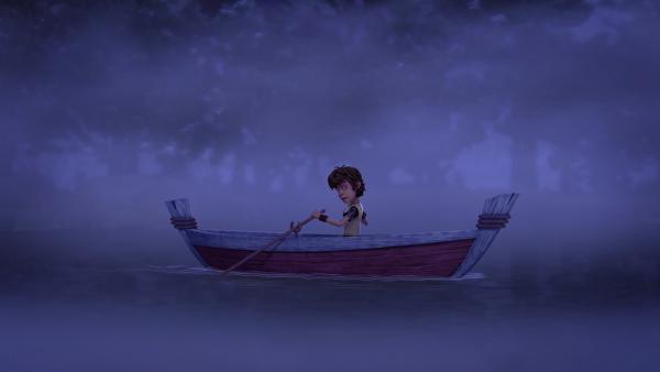 Um einen bösen Zauber zu brechen, muss Arthur Wasser aus dem Feensee besorgen. | Rechte: SWR/Blue Spirit Productions/TéléTOON+/Canal+