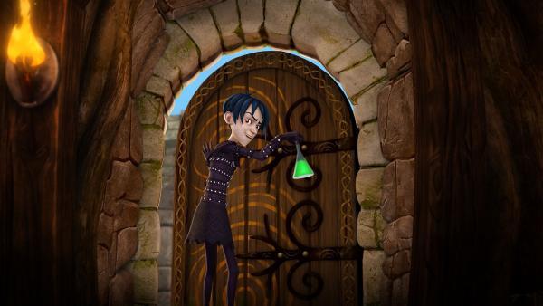 Mordred stiehlt den Trank, der unsichtbar macht. | Rechte: SWR/Blue Spirit Productions/TéléTOON+/Canal+