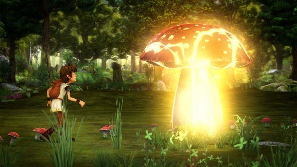 Im Zauberwald sucht Arthur nach einem Gegenmittel für den Umkehrtrunk.   Rechte: SWR/Blue Spirit Productions/TéléTOON+/Canal+