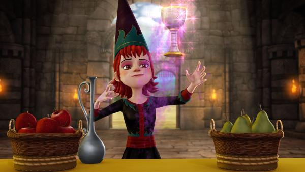 Aeryn begeistert ganz Camelot mit ihren magischen Fähigkeiten. | Rechte: SWR/Blue Spirit Productions/TéléTOON+/Canal+