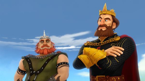 König Uther und König Horsa sind ewige Rivalen. | Rechte: SWR/Blue Spirit Productions/TéléTOON+/Canal+