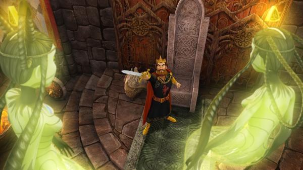 Die Wasserfeen beschuldigen König Uther, ihre Schwester Ondine gefangen zu halten. | Rechte: SWR/Blue Spirit Productions/TéléTOON+/Canal+