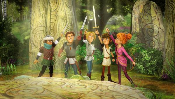 Die Freunde der Tafelrunde stürzen sich in ein neues Abenteuer. | Rechte: SWR/Blue Spirit Productions/TéléTOON+/Canal+