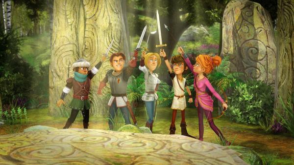 Die Freunde der Tafelrunde stürzen sich in ein neues Abenteuer.   Rechte: SWR/Blue Spirit Productions/TéléTOON+/Canal+