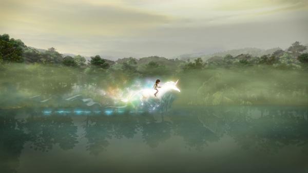 Als Dank für seine Rettung darf Arthur mit dem magischen Einhorn reiten. | Rechte: SWR/Blue Spirit Productions/TéléTOON+/Canal+