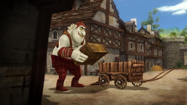 Ein Oger entdeckt den Schrank mit der darin eingesperrten Zofe. | Rechte: SWR/Blue Spirit Productions/TéléTOON+/Canal+