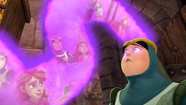 Der Geruch von Guineveres Zauberduft löscht alle Erinnerungen ihrer Zofe an sie aus.   Rechte: SWR/Blue Spirit Productions/TéléTOON+/Canal+