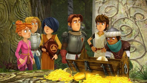 Arthur und seine Freunde fragen sich, ob es richtig war, den magischen Feenpfad zu benutzen. | Rechte: SWR/Blue Spirit Productions/TéléTOON+/Canal+
