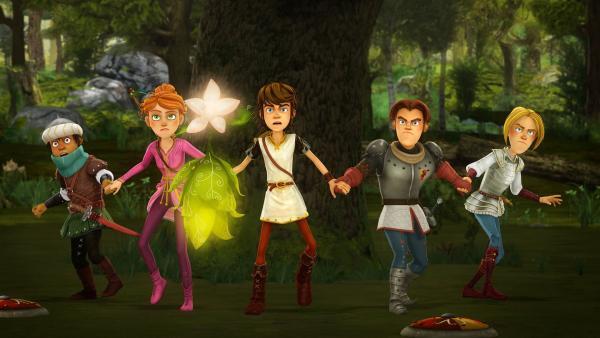 Arthur und die Freunde der Tafelrunde sind zu allem bereit, um den Zauberwald zu retten.   Rechte: SWR/Blue Spirit Productions/TéléTOON+/Canal+